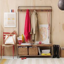 Wall Coat Rack With Baskets Delectable Pipeline Coat Rack West Elm