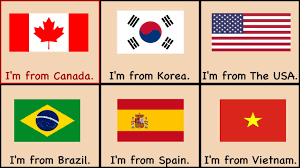 English County Flags Chart Countries Song Where Are You From