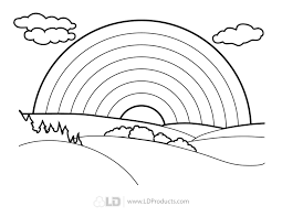 Small Picture Coloring Page Rainbows Rainbow With Clouds And Sun Coloring Page