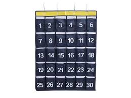 Classroom Pocket Charts Azdent Numbered Classroom Pocket Charts For Cell Phones Hanging Caculator Organizers 30 Pockets