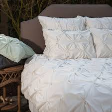 cream valencia pintuck duvet cover twin twin xl