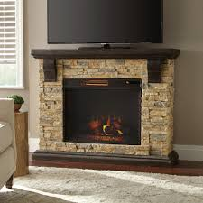 home decorators collection highland 50 in faux stone mantel electric fireplace in tan