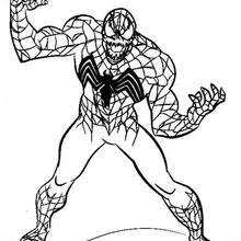 Small Picture Venom ready to attack coloring pages Hellokidscom