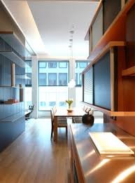 ... Modern Apartments In New York City : Fascinating Apartments Design With  Wooden Cabinet Tv Plasma And ...