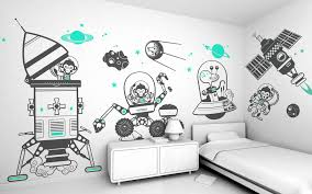 fullsize of contemporary kids wall decals choose your homedesign image space kid room wall decor kids