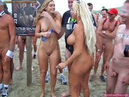 Girl nude bbeach party
