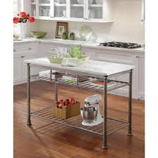 Kitchen marble top Carrera Marble Home Styles Orleans Gray Kitchen Utility Table Dreamstimecom Home Styles Orleans Gray Kitchen Utility Table506094 The Home Depot