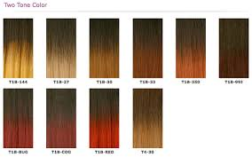Janet Collection Wig Color Chart The Wigs Blog How To Choose Hair Color For Your Wig