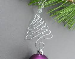 Christmas Tree Ornament Hangers - Wire Christmas Ornament Hooks - Handmade  Christmas Tree Decoration Hanger