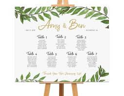 Wedding Seating Chart Staples Greenery Seating Chart Rehearsal Dinner Decorations Wedding