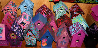 hand painted birdhouses 29 95