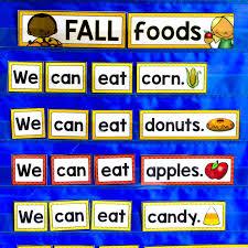 Fall Sentences Pocket Chart Literacy Center 6 Mrs Jones