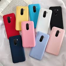 matte <b>silicone</b> case on for xiaomi mi pocophone f1 <b>candy color</b> soft ...