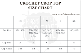 Crochet Baby Sweater Size Chart Crochet Crop Top Sizing And Size Chart Snowflake Crochet