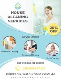 Cleaning Brochure Professional House Cleaning Service Flyer Template