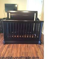 cherry wood crib baby cache convertible and changing table graco with attached 4 in 1