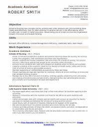 Associate Registrar Sample Resume Amazing Academic Assistant Resume Samples QwikResume
