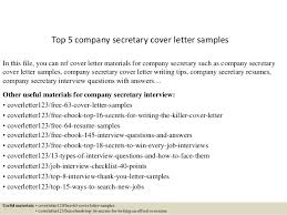top 5 company secretary cover letter samples in this file you can ref cover letter cover letter for it company
