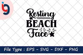This free svg cut file comes in a single zip file with the following file formats: Resting Beach Face Graphic By Iyashin Graphics Creative Fabrica