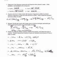types of reactions worksheet then balancing 42 worksheet types reactions worksheet answers picture types