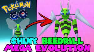 SHINY MEGA BEEDRILL IN POKEMON GO - SHINY BEEDRILL MEGA EVOLUTION - YouTube