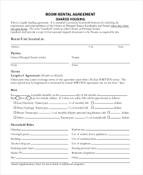 Room Rental Contract Custom Rental Agreement Form 44 Free Documents In Word PDF
