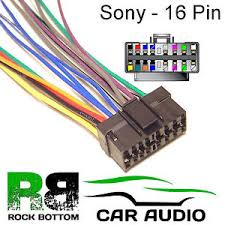 sony xr series car radio stereo 16 pin wiring harness loom bare wire image is loading sony xr series car radio stereo 16 pin