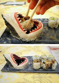 23 shark sushi plate