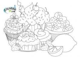 Different desserts, cakes and cupcakes Cute Cupcake Coloring Pages For Adults Novocom Top