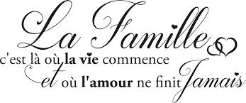 Sticker La Famille Cest Là Où La Vie Commence Taille 60x25 Cm Marque Beestick Noir Fabrication France