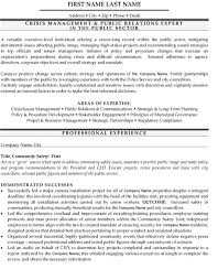 Crisis Management Resume Sample & Template