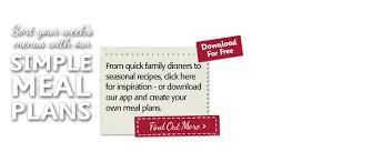 Family Meal Plans Meal Plans Supervalu