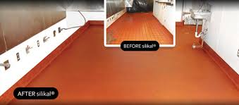 industrial office flooring. Red Remodeled Restaurant Kitchen Floor. Industrial Office Flooring