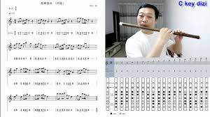 C Key D Key Dizi Flute Practice With Finger Chart And Staff