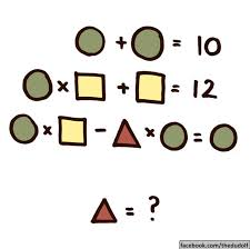 can you solve this simple math equation please solve for the triangle