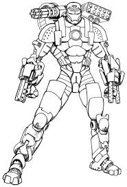 Small Picture Iron Man With A Full Weapons Coloring Pages Coloring Pinterest