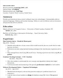 machine learning resume sample data scientist example cover letter good  looking stylish