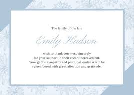 Funeral Words For Cards Inspiration Customize 48 Funeral Thank You Card Templates Online Canva