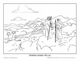 This coloring sheet highlights abraham's encounter with god. Abraham Coloring Page Printable Abram And Lot Separate