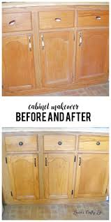 cabinet makeover without paint before and after