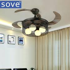 village kids ceiling fan with lights black folding fans remote control bedroom retractable cool