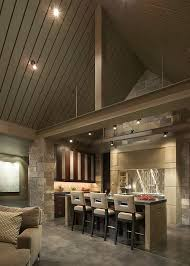 track lighting for art. Kitchen Track Lighting Vaulted Ceiling. Gray Ceiling Ideas With Natural Wall Stone For Art A