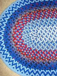 vintage handmade braided rugs oval rug made with wool and rags 1