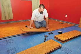 because cork planks together without glue or nails they re an easy diy or reasonably d professional installation robyn hired james hull