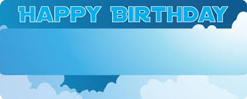 Clouds Design Happy Birthday In The Clouds Design Medium Personalised Banner