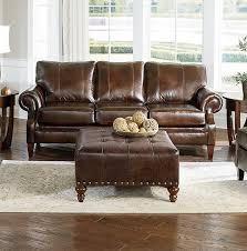 living rooms with brown furniture. Shop Leather Furniture Living Rooms With Brown