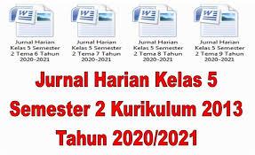 Rpp kelas 1 semester 2 format 1 lembar; Jurnal Harian Kelas 5 Semester 2 Kurikulum 2013 Tahun 2020 2021 Mutu Sd Mutu Sd