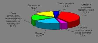 Курсовая работа Развитие малого бизнеса в современной России  Рис 3 Распределение малых предприятий Оренбургской области по видам экономической деятельности 16