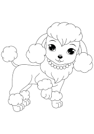 Free Printable Dogs And Puppies Coloring Pages For Kids Poodle Dog