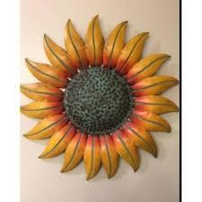 yellow sunflower wall decor metal art